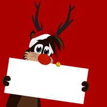 Reindeer Chrismas Card