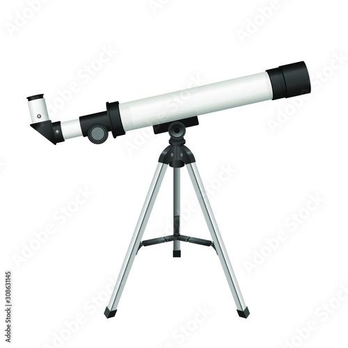 Photo Telescope vector design illustration isolated on white background