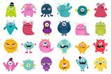 Fototapeta Fototapety na ścianę do pokoju dziecięcego - Cute and Kawaii monster kids icon set.