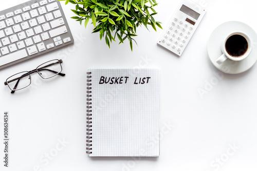Cuadros en Lienzo Bucket list