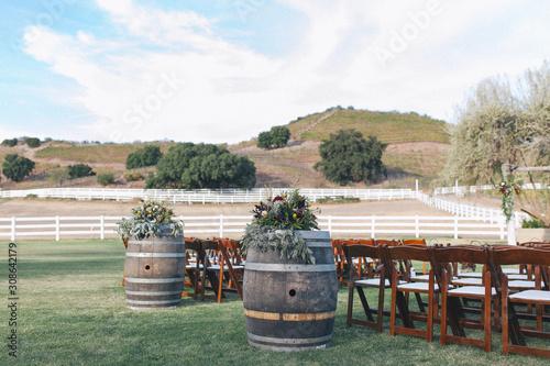 Fototapeta Outdoor winery wedding venue