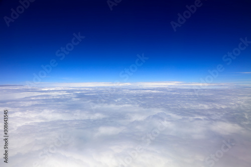 High altitude white clouds Canvas Print