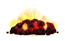 Glowing Coal Pile
