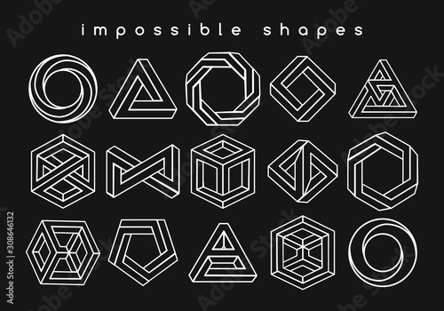 Fotomural Geometric shapes optical illusions