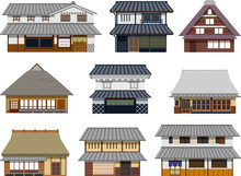 日本 家屋 イラスト