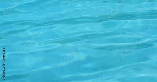 Fotografie, Tablou  Swimming pool water wave in blue color