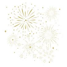 Bursting Fireworks With Stars ...