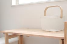 シンプルな白い洗濯か...