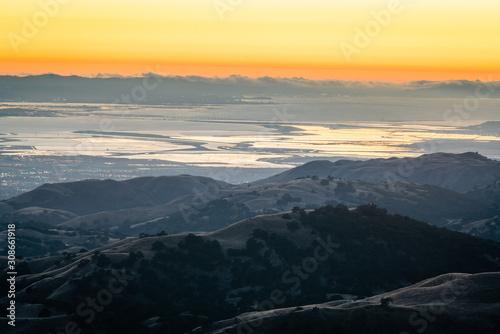 Sunset over California Hills
