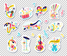 Musical Instruments And Notes ...
