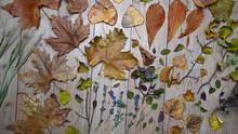 Hintergrund Mit Herbstlichen B...