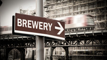 Street Sign To Brewery