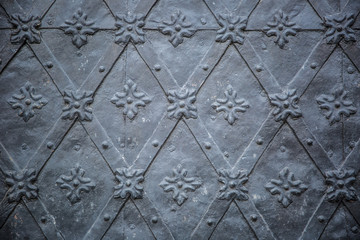 Rustic ancient doors pattern medieval repetitive ornaments