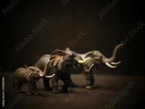 Photo isolated elephants toy figurine