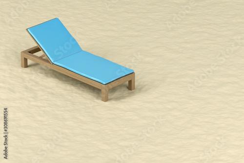Obraz na plátně Sun lounger on the beach