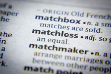 Word Or Phrase Matchless In A Dictionary.