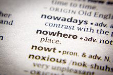 Word Or Phrase Nowhere In A Di...
