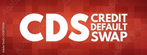 Photo CDS - Credit Default Swap acronym, business concept background