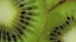 Fresh Kiwi Fruit slices pan shot with slight rotation