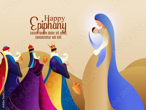 Obraz na płótnie illustration of Epiphany (Epiphany is a Christian festival)