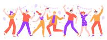 People Celebrating. Happy Cele...