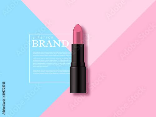 Canvastavla  Lipstick makeup ad, cosmetics beauty product