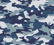 Blue Army Camouflage Seamless...