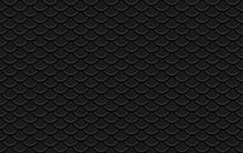 Black Background. Seamless Pattern Wave Line Design. Vector Illustration. Eps 10