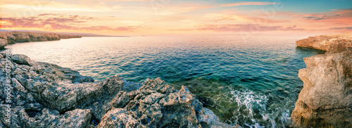 Fototapeta Dawn in the Blue Lagoon at Cape Akamas