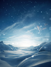 Winter Mystical Snow Scenic Background