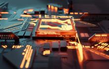 A Futuristic Glowing CPU Quant...