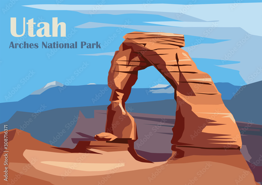 Fototapeta Delicate Arch in Arches National Park