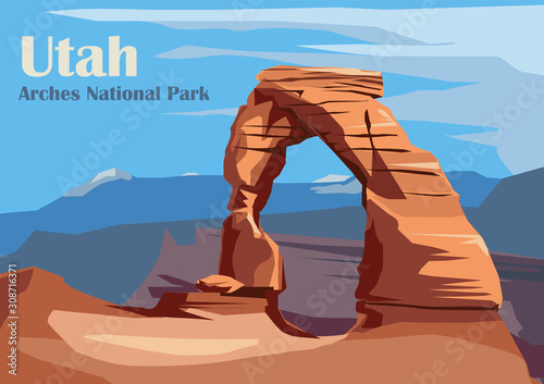 Delicate Arch in Arches National Park Fototapete