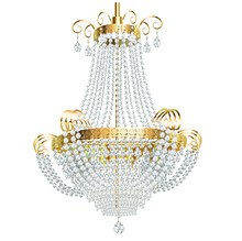 Illustration Of A  Chandelier With Crystal Pendants On A White Background