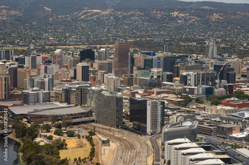 Fototapety, obrazy: Adelaide skyline , the city is a  tourist destination and the capital city of South Australia