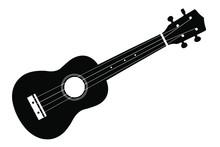 Vector Ukulele Guitar On A Whi...