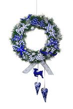 Christmas Wreath Of Real Pine Branches On A White Background