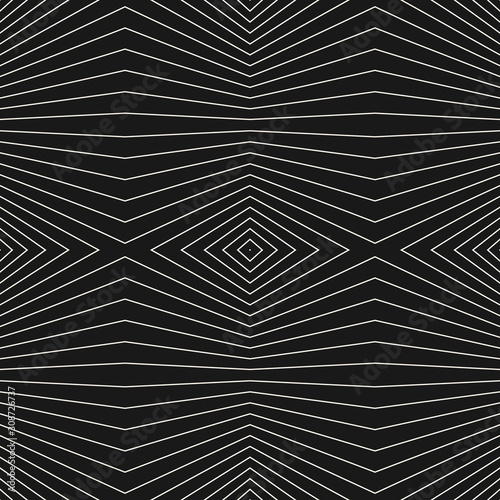 Vector geometric seamless pattern with thin refracted lines Wallpaper Mural