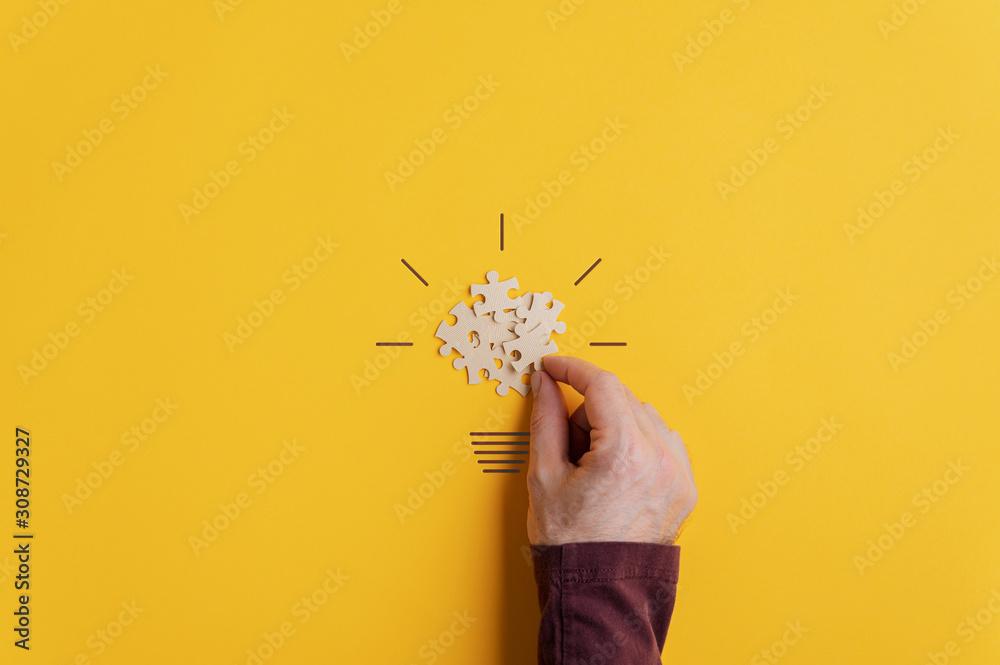 Fototapeta Conceptual image of creativity and idea