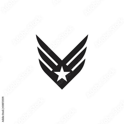 Obraz na plátne army military vector icon