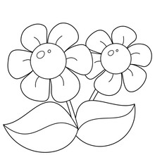 Coloring Page Outline Of Cartoon Flowers. Coloring Book For Kids.