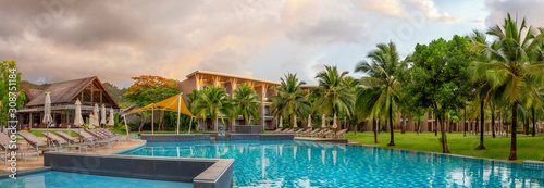 Panorama of the chic five star hotel with pool the sands of katathani Canvas Print