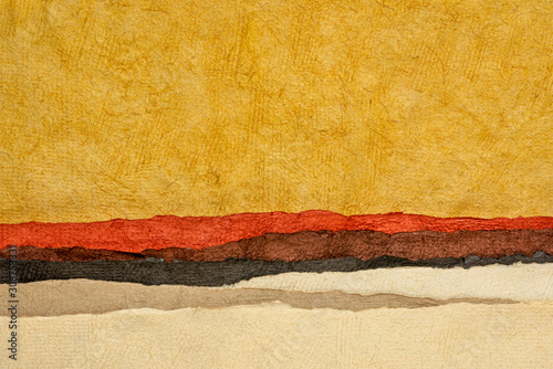 abstract desert or badlands landscape Canvas Print