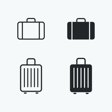 Baggage Icons Set. Vector Illu...