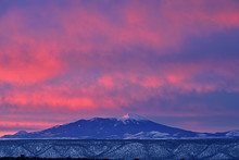 Winter Landscape At Dawn Of Humphreys Peak, San Francisco Peaks, Flagstaff, Arizona, USA