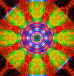 canvas print picture Color abstract graphic kaleidoscope. Pattern