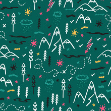 Camping Nature Vector Backgrou...