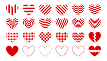 Heart Icon Set For Valentines ...