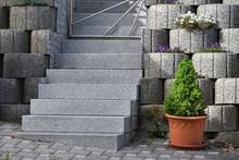 Garden Staircase Made Of Natur...
