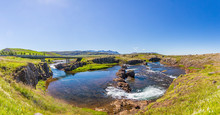 Panoramic Picture Of Snaefellsjökull Volcano Area On Snaefells Peninsula On Iceland In Summer
